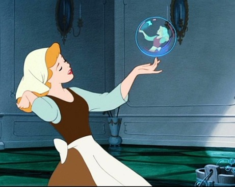 Cinderella Maid Bubble Disney 1950